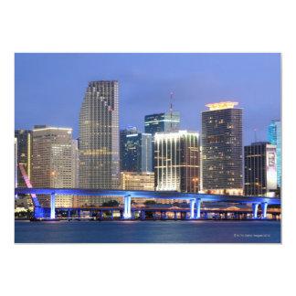 "Skyline of Miami 5"" X 7"" Invitation Card"