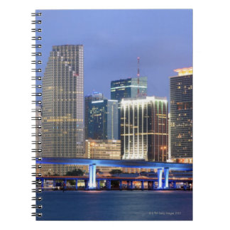 Skyline of Miami Note Book