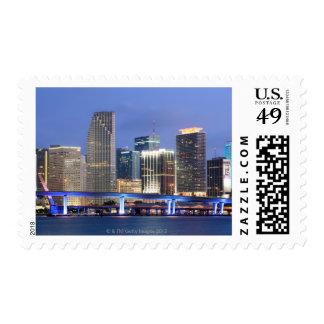 Skyline of Miami Stamp