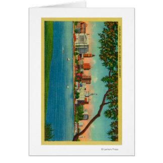 Skyline of Oakland across Lake Merritt Card