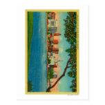 Skyline of Oakland across Lake Merritt Postcard