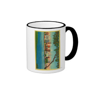 Skyline of Oakland across Lake Merritt Ringer Mug