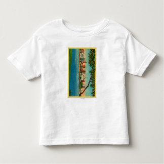 Skyline of Oakland across Lake Merritt Toddler T-shirt