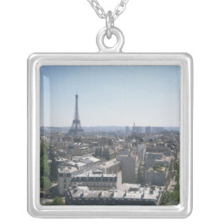 Skyline of Paris, France Silver Plated Necklace