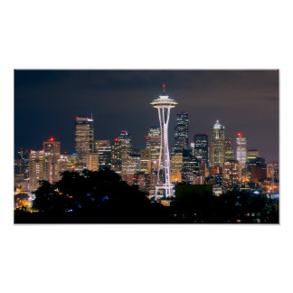 SKYLINE of SEATTLE Poster