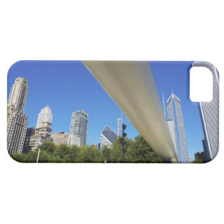 Skyline of Skyscrapers and footbridge at iPhone SE/5/5s Case