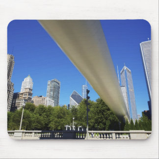 Skyline of Skyscrapers and footbridge at Mouse Pad