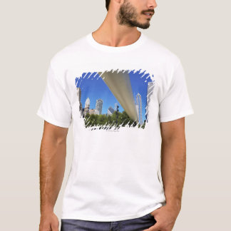 Skyline of Skyscrapers and footbridge at T-Shirt