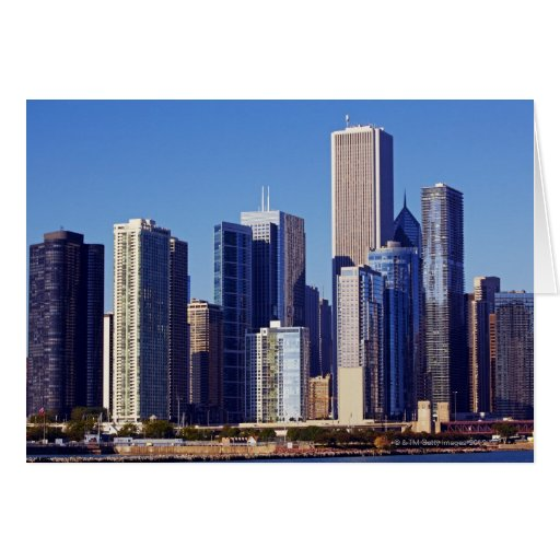 Skyline of Skyscrapers in downtown Chicago Greeting Card