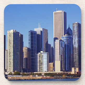 Skyline of Skyscrapers in downtown Chicago Coaster