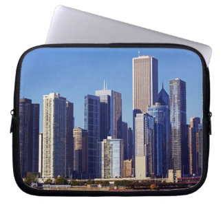 Skyline of Skyscrapers in downtown Chicago Laptop Sleeve