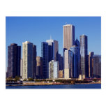 Skyline of Skyscrapers in downtown Chicago Postcard