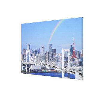 Skyline of Tokyo and Rainbow Bridge Canvas Print