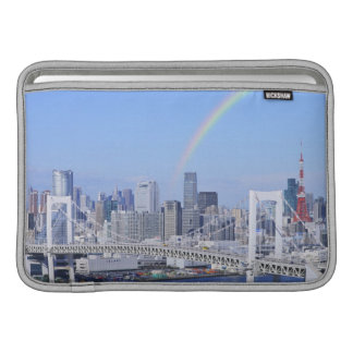 Skyline of Tokyo and Rainbow Bridge MacBook Air Sleeve