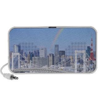 Skyline of Tokyo and Rainbow Bridge Notebook Speakers