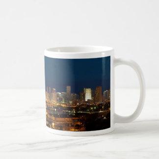 Skyline Panorama of Downtown Miami Florida Coffee Mug
