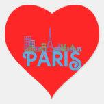 Skyline Paris Heart Sticker