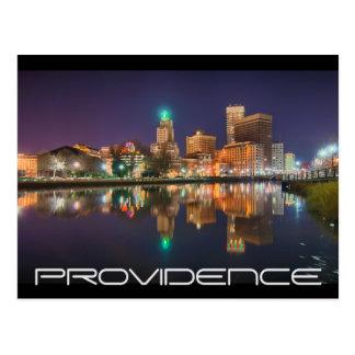 Skyline Providence Rhode Island Postcard