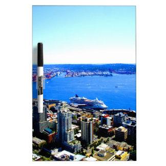 skyline seattle cityscape city Dry-Erase whiteboards