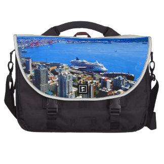 skyline seattle cityscape city commuter bags