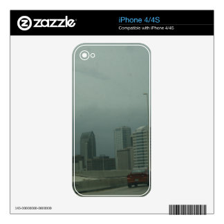 skyline skin for cell phone. decal for iPhone 4S