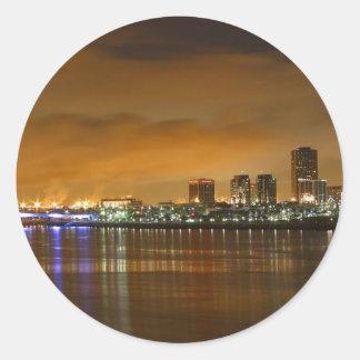 Skyline Round Sticker