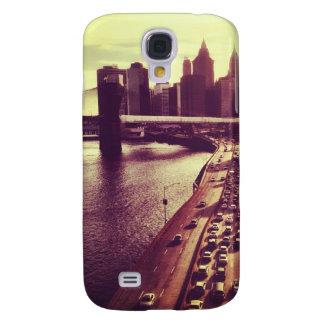 Skyline Sunset - Brooklyn Bridge and NYC Cityscape Samsung Galaxy S4 Cover
