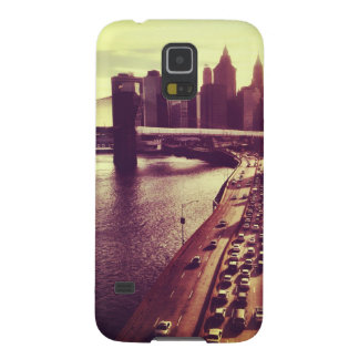 Skyline Sunset - Brooklyn Bridge and NYC Cityscape Cases For Galaxy S5