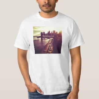 Skyline Sunset - Brooklyn Bridge and NYC Cityscape T-Shirt
