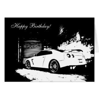 Skyline Theme Birthday Card