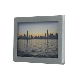 Skyline Themed, Cityscape As Viewed From Across Th Belt Buckles