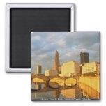 Skyline, Town St. Bridge, Lincoln-LeVeque, Columbu Refrigerator Magnet