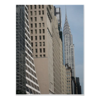 Skyline View 42nd Street  from 5th Avenue Poster