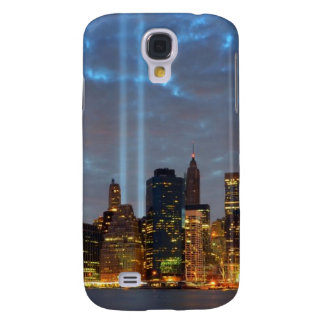 Skyline view of city in night. samsung galaxy s4 cover