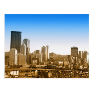 Skyline view of Pittsburgh art photo Post Card