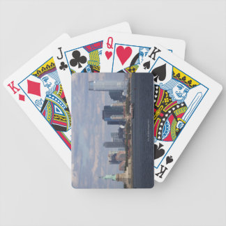 Skyline with Statue of Liberty Bicycle Playing Cards