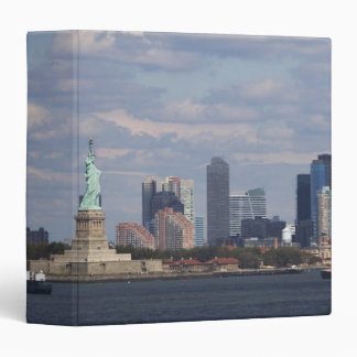 Skyline with Statue of Liberty Vinyl Binder