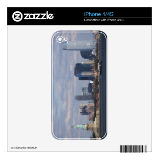 Skyline with Statue of Liberty Decals For The iPhone 4
