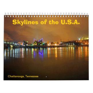 Skylines of the U.S.A. Wall Calendar