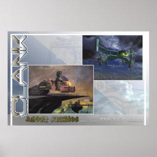 SkyRider y máquina de vuelo (grande) Poster