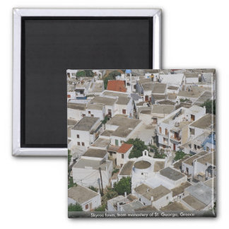Skyros town from monastery of St George Greece Magnet