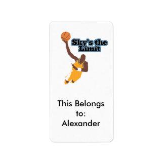 skys el diseño del vector del baloncesto del límit etiqueta de dirección