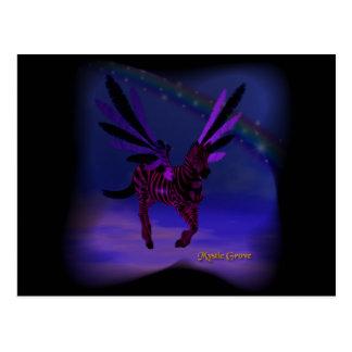 Skys púrpura tarjeta postal