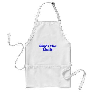 sky's the limit adult apron