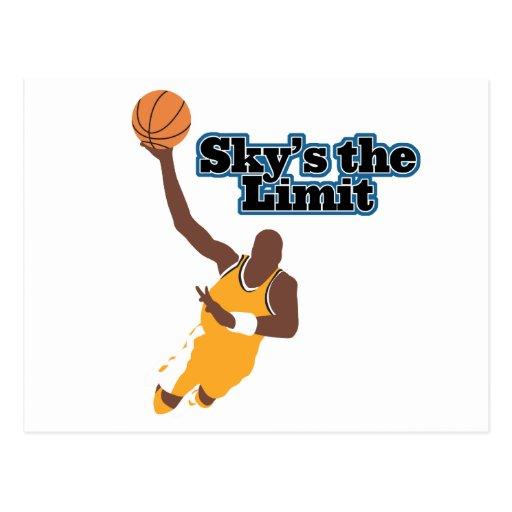 skys the limit basketball vector design postcard