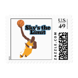 skys the limit basketball vector design stamp