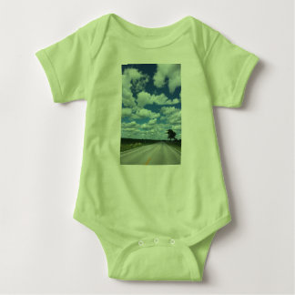 Sky's the Limit Limegreen Baby Bodysuit