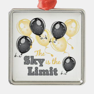 Skys The Limit Metal Ornament