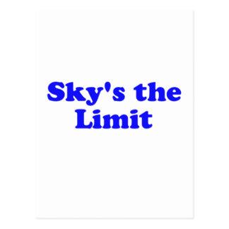 sky's the limit postcard