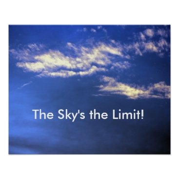Professional Business Sky's the Limit Poster